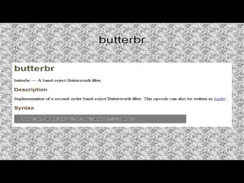 Tutorial 25. Filtered Noise