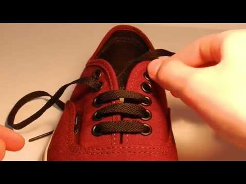 How to Bar Lace shoes - Vans ( 5 Holes ) Easiest and Fastest way !