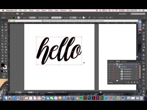 How to Make SVG Cut Files for Cricut & Silhouette
