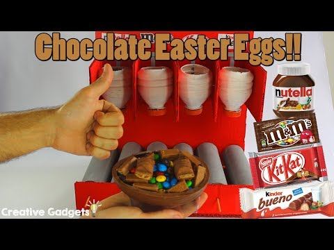 How to make the Awesome Chocolate Easter Eggs Machine (Nutella, M&M's, KitKat & Kinder Bueno!!!