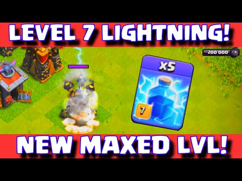Clash of Clans NEW LEVEL 7 LIGHTNING SPELL WORLD PREMIERE | CoC Update Sneak Peek Fall 2015