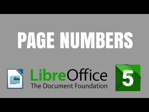 LibreOffice 5 Writer: How to insert page numbers