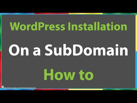 How to Install WordPress on a Subdomain Using Cpanel