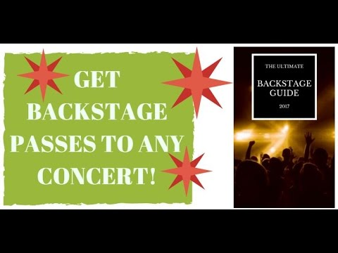 HOW TO GET FREE CONCERT TICKETS 2017! GET MEET & GREET PASSES TO CONCERTS!