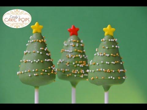 X mas tree Cake Pop