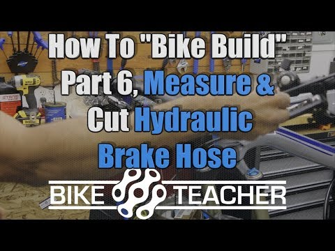 How to measure & cut hydraulic disk brake hose, line on a bicycle, FSR