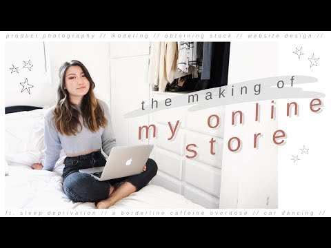 STARTING AN ONLINE BUSINESS // photography, modeling, thrifting, website design