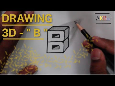 Kid's Sketching Lessons : Drawing a 3D alphabet