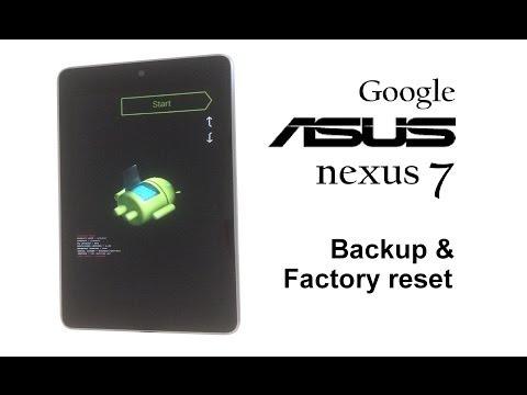 ASUS Google Nexus 7 / 2012 - Password Removal, Backup & Factory Reset / Wipe Data