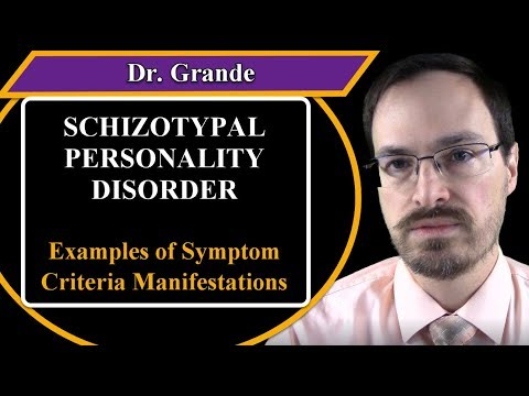 Examples of Schizotypal Personality Disorder Symptom Criteria Manifestations