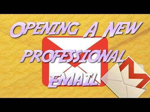 How to make a professional email address and secure password