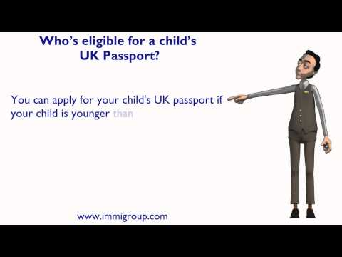 Who's eligible for a child's UK Passport?