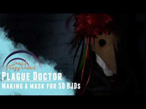 How to make a plague doctor mask for BJDs