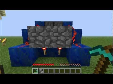 Minecraft Cobblestone Generator Tutorial 85 Blocks Per Minute Semi Automatic.