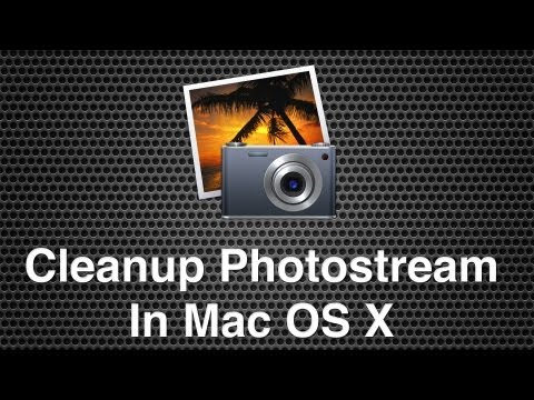 Removing Files From Photostream and Cleaning Up Picture Files