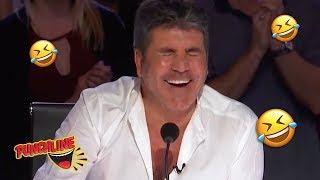 SIMON COWELL CRACKS UP!! Stand Up Comedian Gets Everyone Laughing At His Jokes!