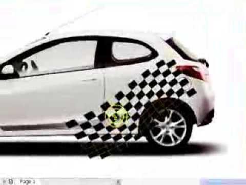 35..Smear tool in CorelDRAW ( CAR sticker design)