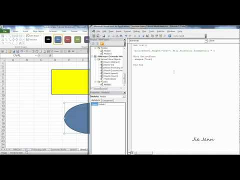 Excel VBA - How To Change Color of a Shape