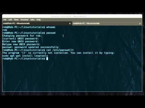 Linux: Change password