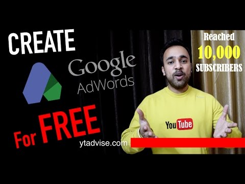 How to create FREE Google AdWords Professional Account - Search Engine Optimization Google