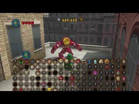 LEGO Marvel Super Heroes: How to Unlock Iron Man Hulkbuster Armor + Gameplay (HD)
