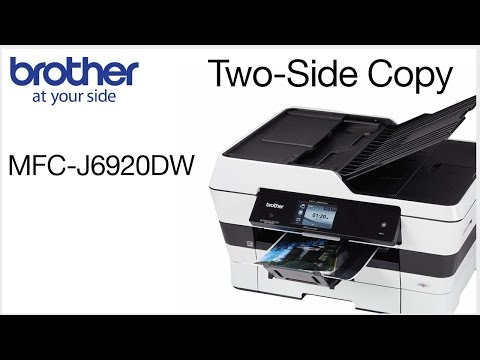 Brother MFC-J6920DW - making a double-sided copy