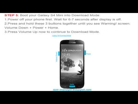 HOW TO INSTALL CWM RECOVERY ON SAMSUNG GALAXY S4 MINI GT-I9190