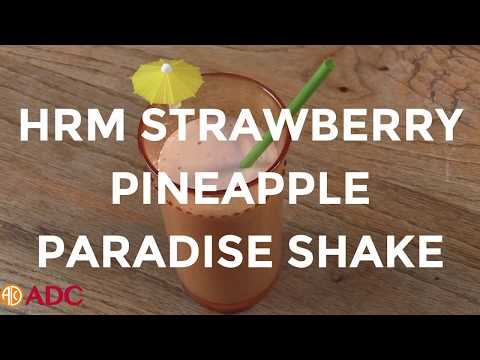 HRM Strawberry Pineapple Paradise shake