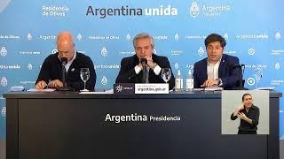 Conferencia de prensa del presidente Alberto Fernández desde Olivos