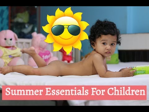 Summer Essentials For Babies |  Mama Earth Baby Products Review | Sushmita's Diaries