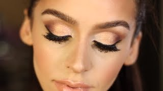 Gold & Bronze Smokey Eye Makeup Tutorial!