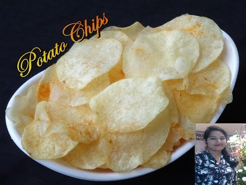 Homemade Potato Chips Recipe | Perfect and Crispy Potato Chips Recipe | Crispy Potato Wafers Recipe