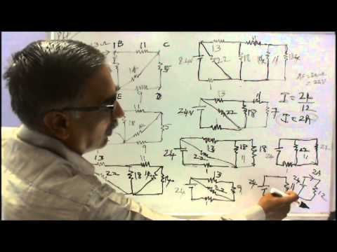 BASICS OF ELECTRICAL ENGINEERING = PART - 07 - WORKED EXAMPLES ON SERIES & PARALLEL CIRCUITS