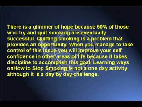 How to Stop Smoking Tips