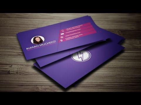 Modern Business Card (PRINT READY + MOCK-UP) in CorelDRAW - PurpleStroke Design™