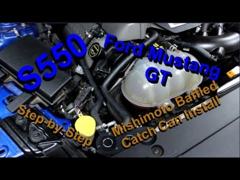 Ford Mustang GT: Mishimoto Baffled Catch Can Kit Installation