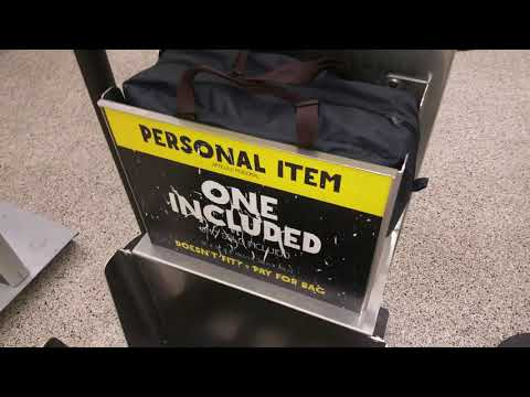 Spirit/Frontier Airlines Follow up on NO Extra Charge Baggage See It FITS!!!!