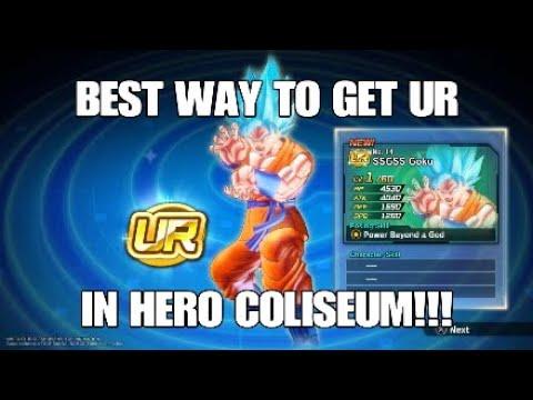 EASIEST METHOD TO GET A UR!!! HERO COLISEUM/DRAGON BALL XENOVERSE 2
