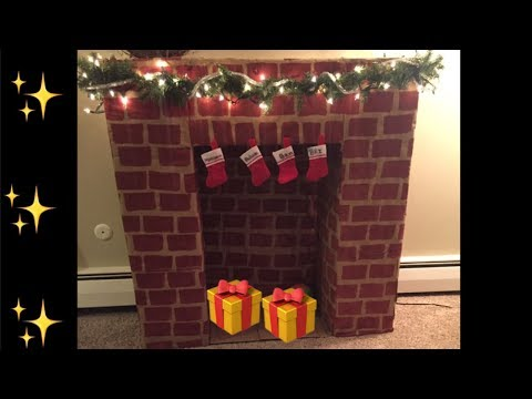 Diy fireplace out of cardboard boxes!