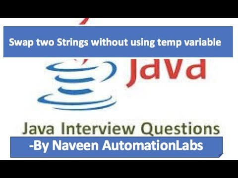 Swap two Strings without using temp/third variable - Java Interview Questions -9