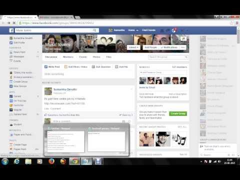 send post in facebook through Gmail