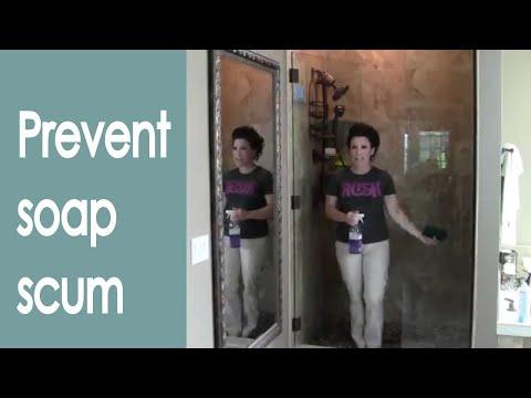 Keep Glass Shower Doors Clean (how to) - Renee Romeo