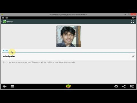 How to change whatsapp profile pic in bluestacks  [HD + Narration]