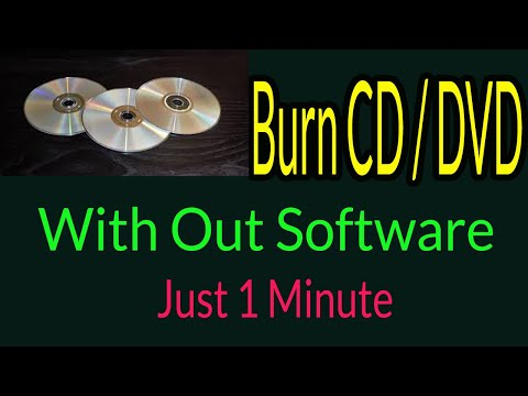 How to Burn CD/ DVD in windows 7, 8, 10 without software| Bangla Tutorial |