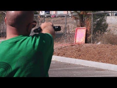 Tiberius Arms 8.1 Paintball Gun Pistol - Shooting