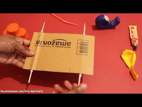 How to make a Balloon Powered Car   Very simple   Project for kids