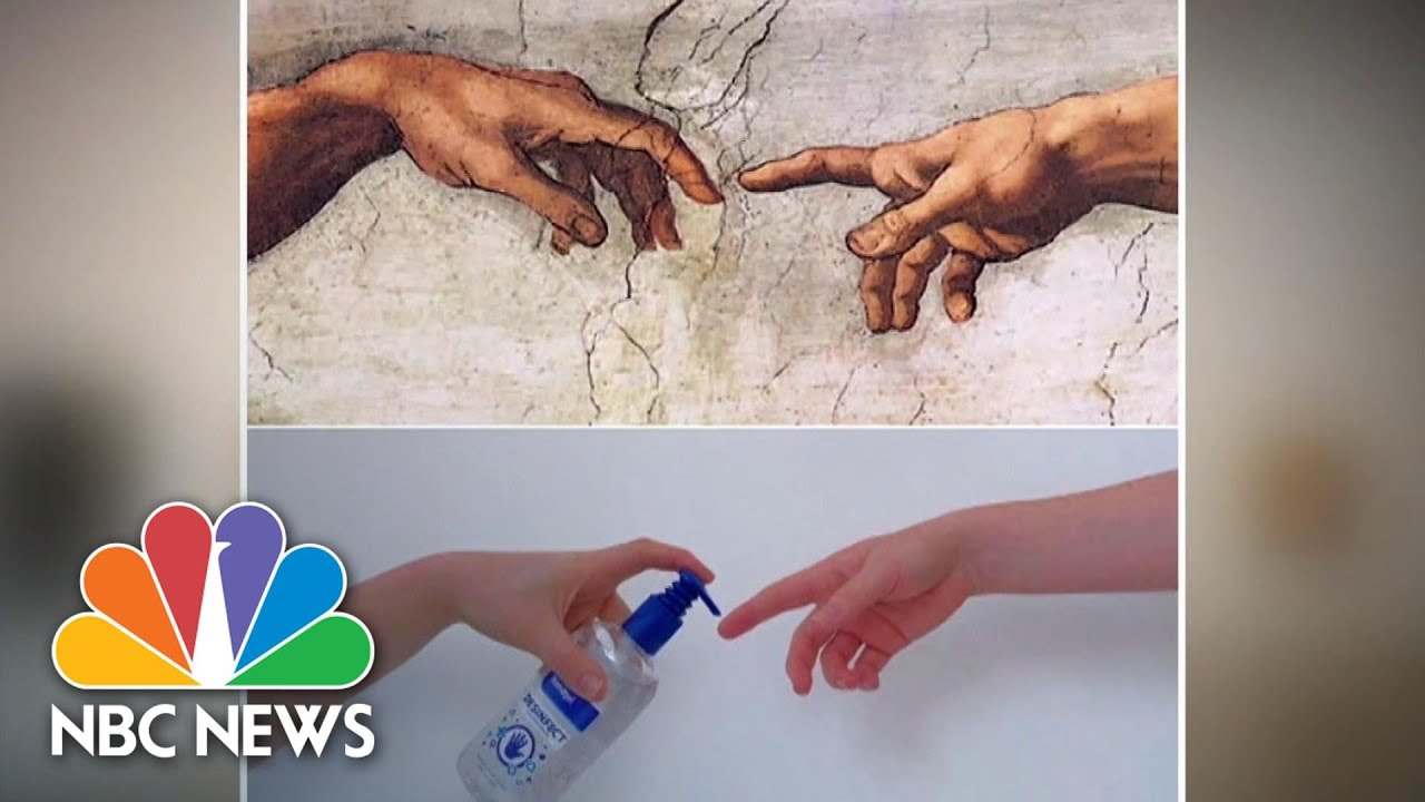 Recreating Classic Art With Household Items To Kill Time In Quarantine   NBC News NOW
