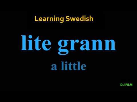 Learning Swedish (Lesson 5)
