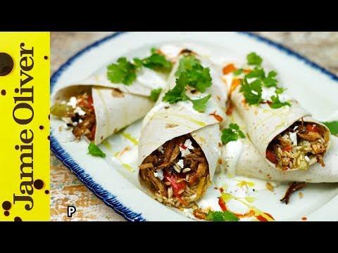 Tasty Cajun Rice & Turkey Burrito   Jamie Oliver & Uncle Ben's