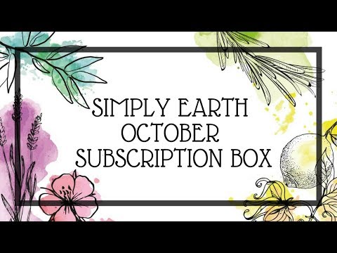 SIMPLY EARTH | OCTOBER SUBSCRIPTION BOX